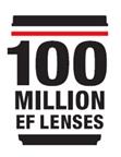 Canon 100 Million EF Lenses Commemorative Logo